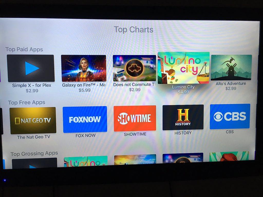 Top Chart nella Apple TV