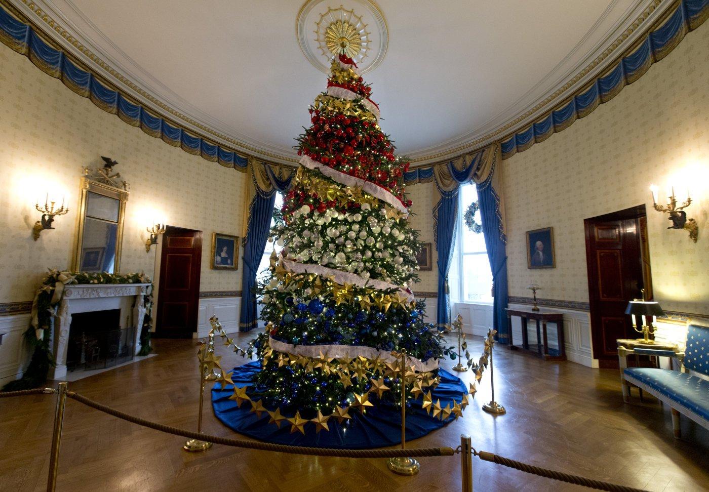Árvores de Natal na Casa Branca