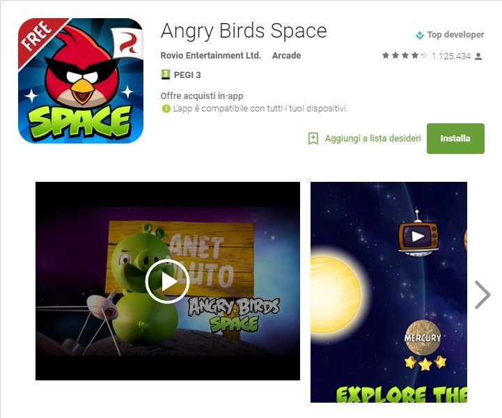 Angy Birds Space