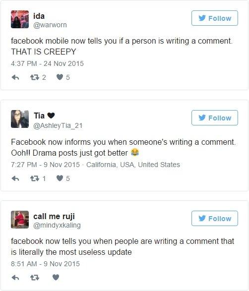 Commenti sul nuovo aggiornamento di Facebook