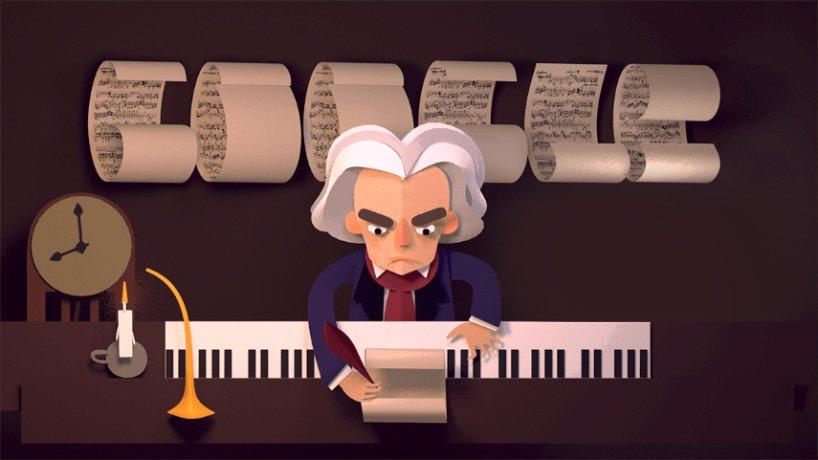 Google Doodle dedicato a Beethoven