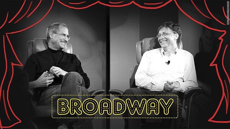 Steve Jobs e Bill Gates a Broadway