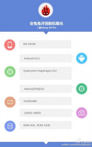 Galaxy A9 Pro AnTuTu
