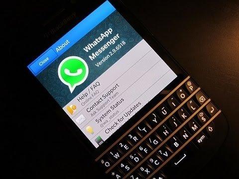 黑莓上的WhatsApp
