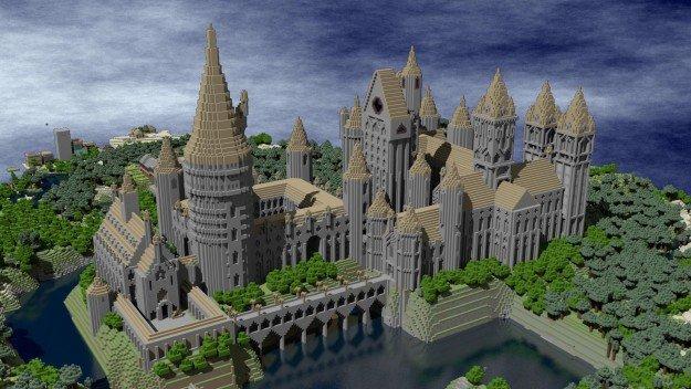 Kasteel gebouwd op Minecraft