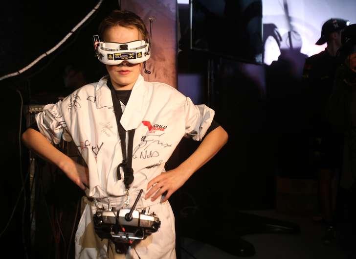 Luke Bannister, vincitore del primo World Drone Prix