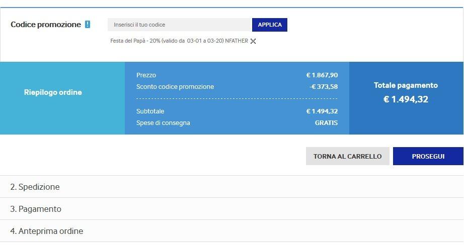 Spesa Samsung coupon
