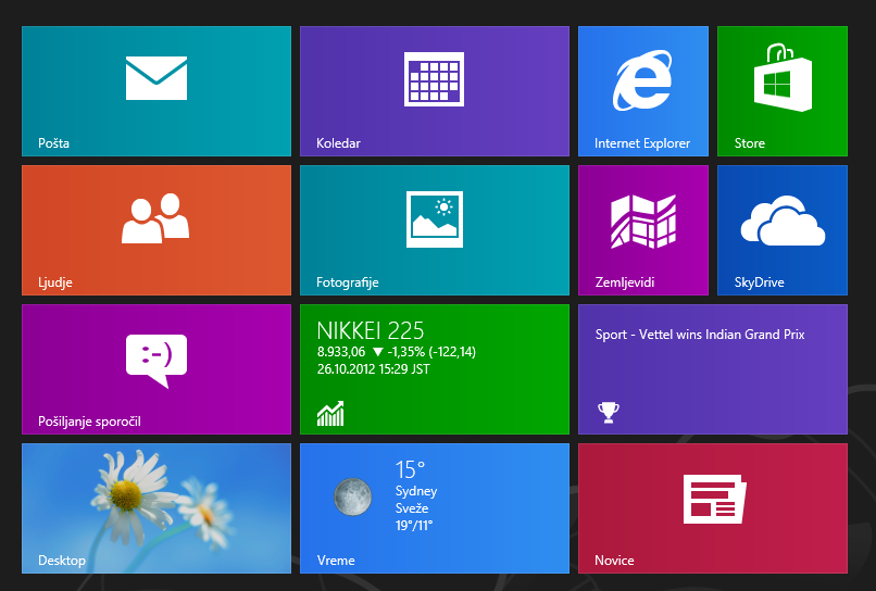 Windows 8中的Live Tiles