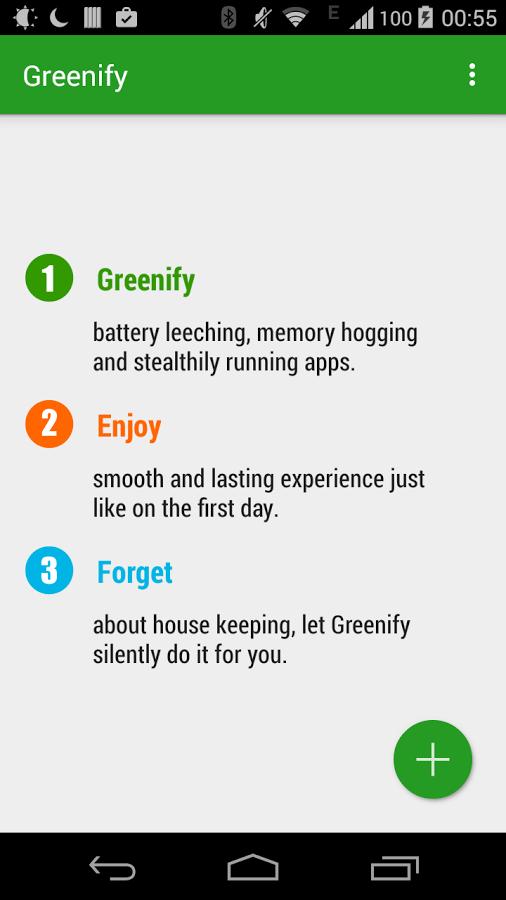 Greenify, aplicación para Android