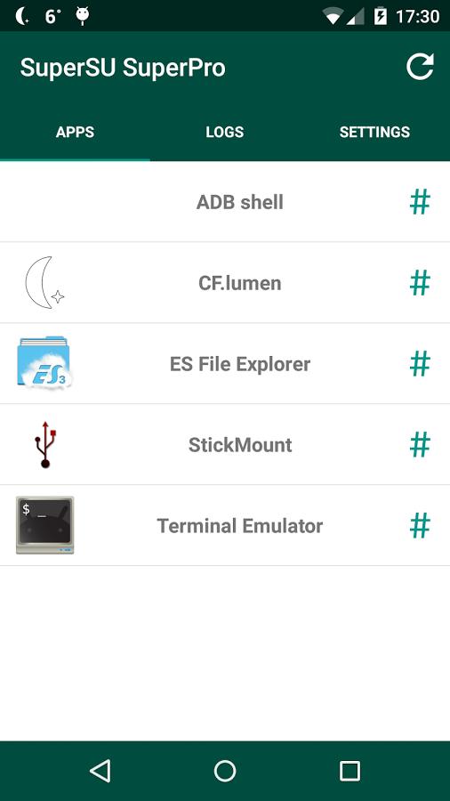 SuperSU, applicazione per Android