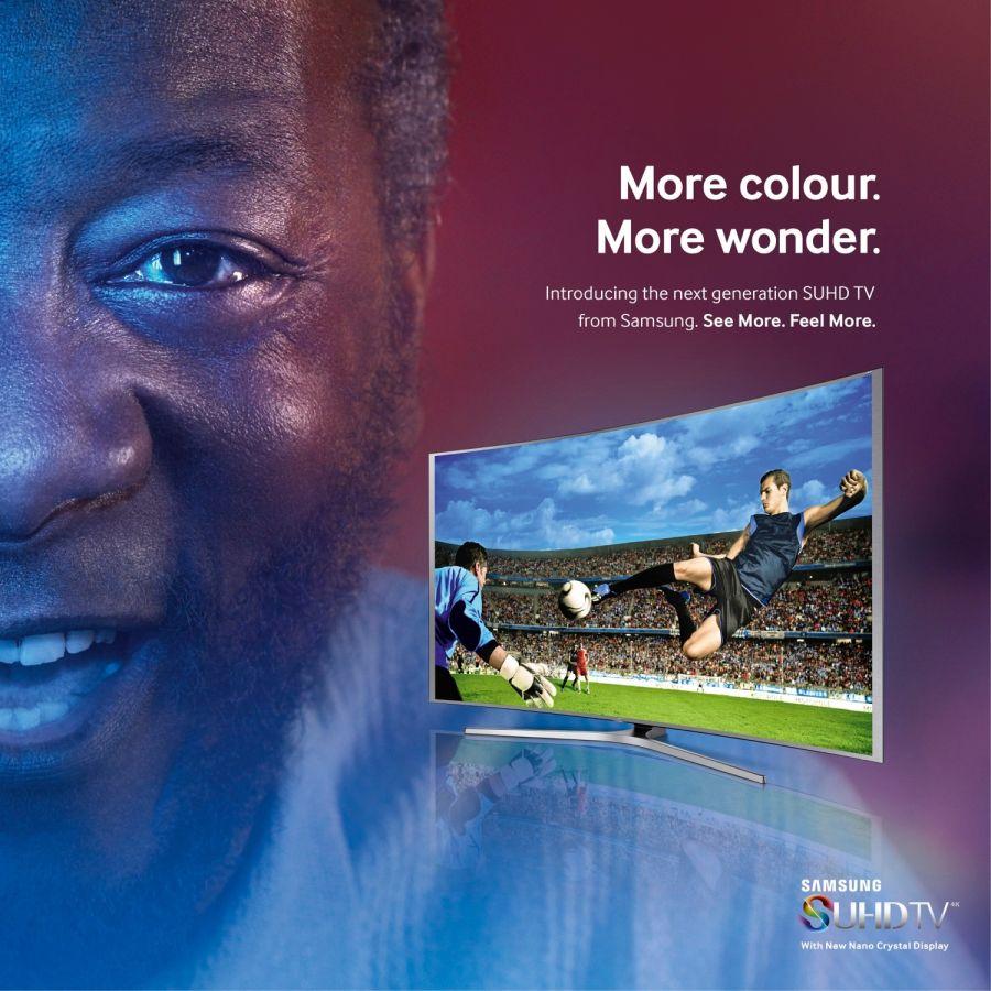 Publicidad de Samsung con el imitador de Pelé.