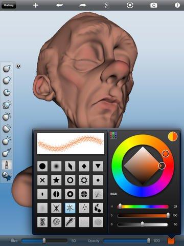 123D Sculpt, applicazione per iOS