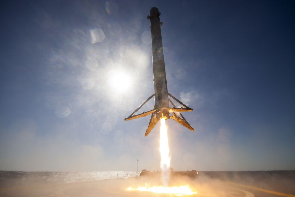 Atterrissage du SpaceX 9 Falcon
