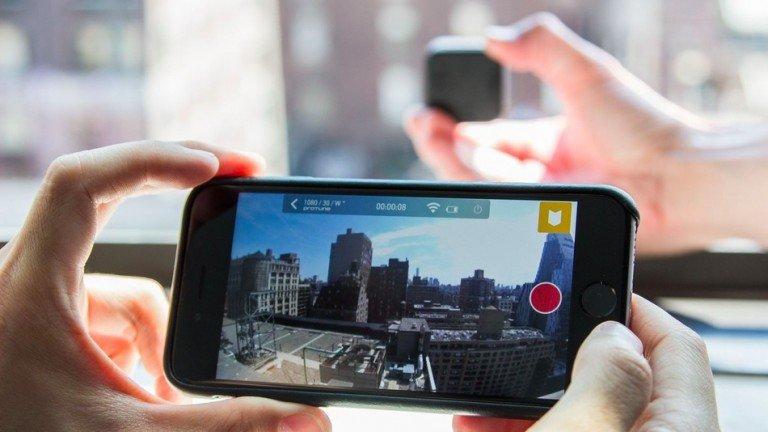 Telefono collegato ad una GoPro