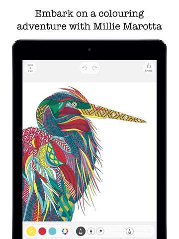 Millie Marotta's Colouring Adventures, applicazione per iOS