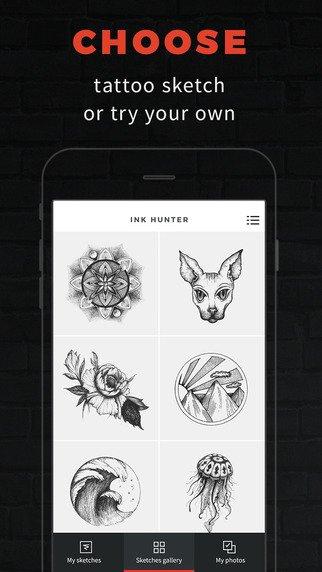 Ink Hunter, applicazione per iOS