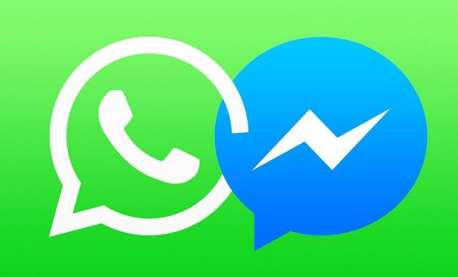 Facebook Messenger e WhatsApp