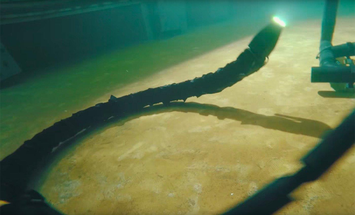 Una serpiente robótica para el mantenimiento de plataformas submarinas.