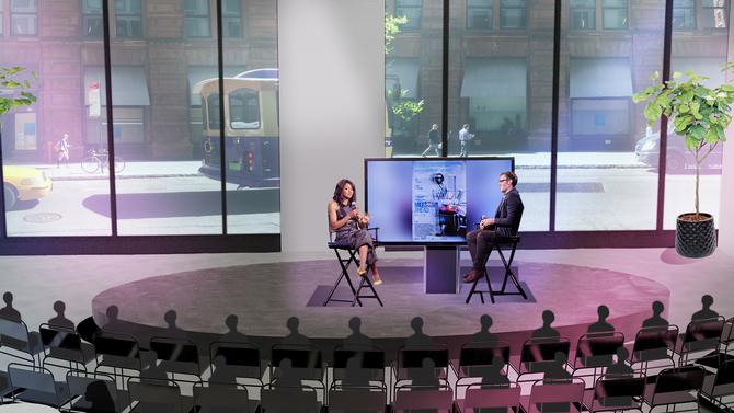 AOL sala live realtà virtuale