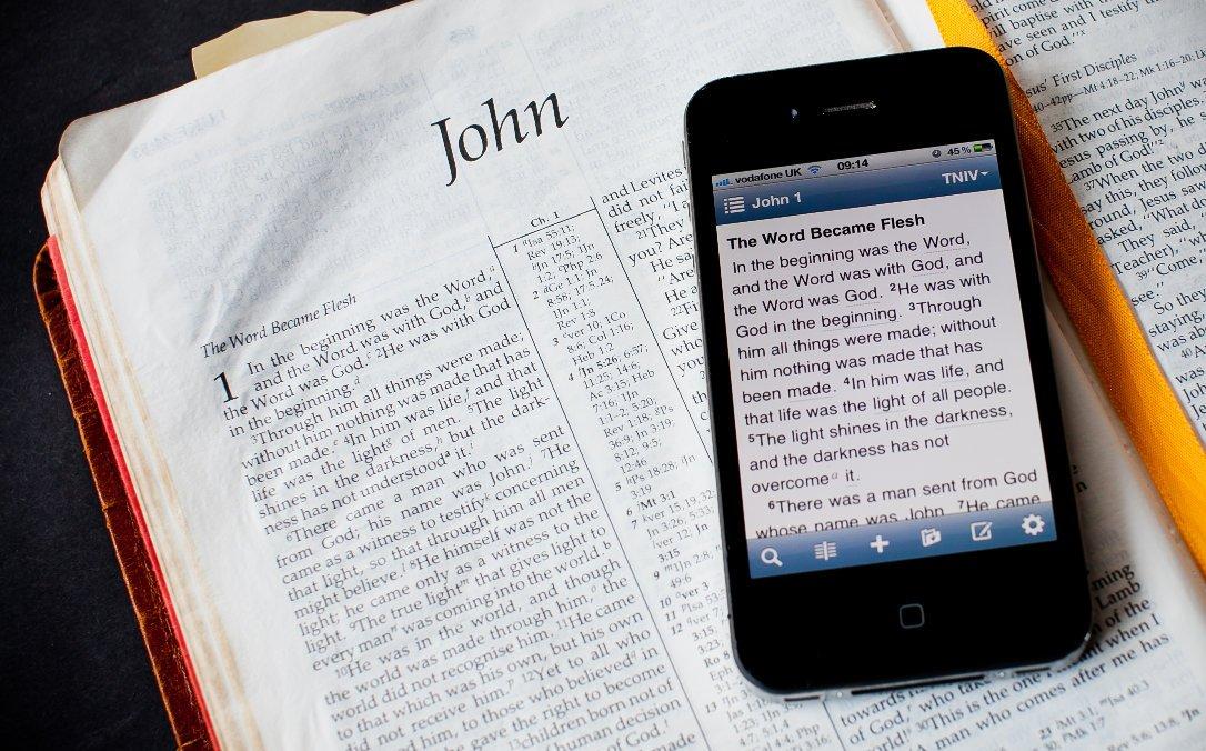 Bibbia su cellulare