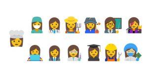 Google propone 13 nuove emoji con protagoniste le donne