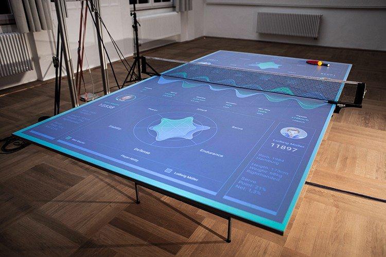 Thomas Mayer创建了一个交互式乒乓球桌