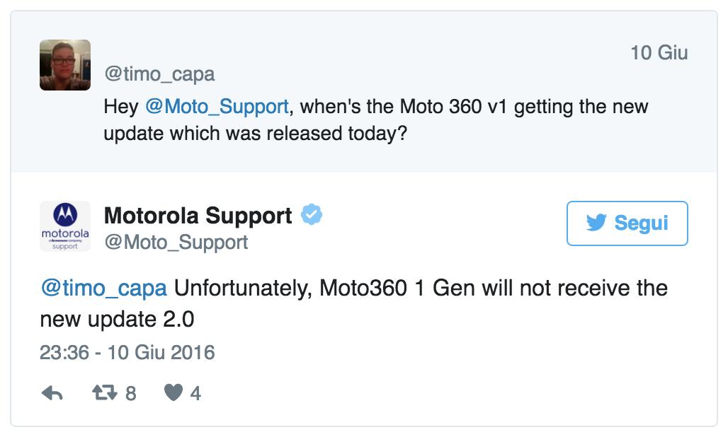 Motorola Moto 360 Android Wear 2.0
