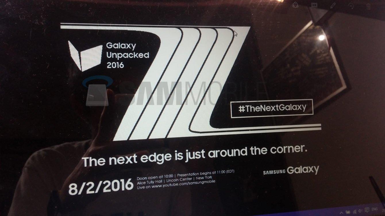 Samsung Galaxy Note 7 invito locandina