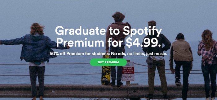 Spotify Premium per studenti