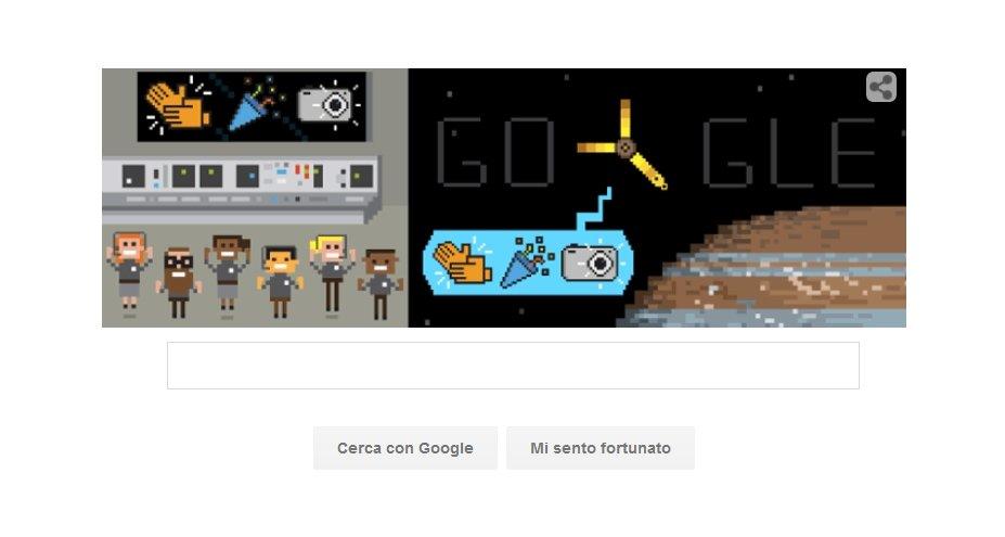 Google Doodle per la missione Juno