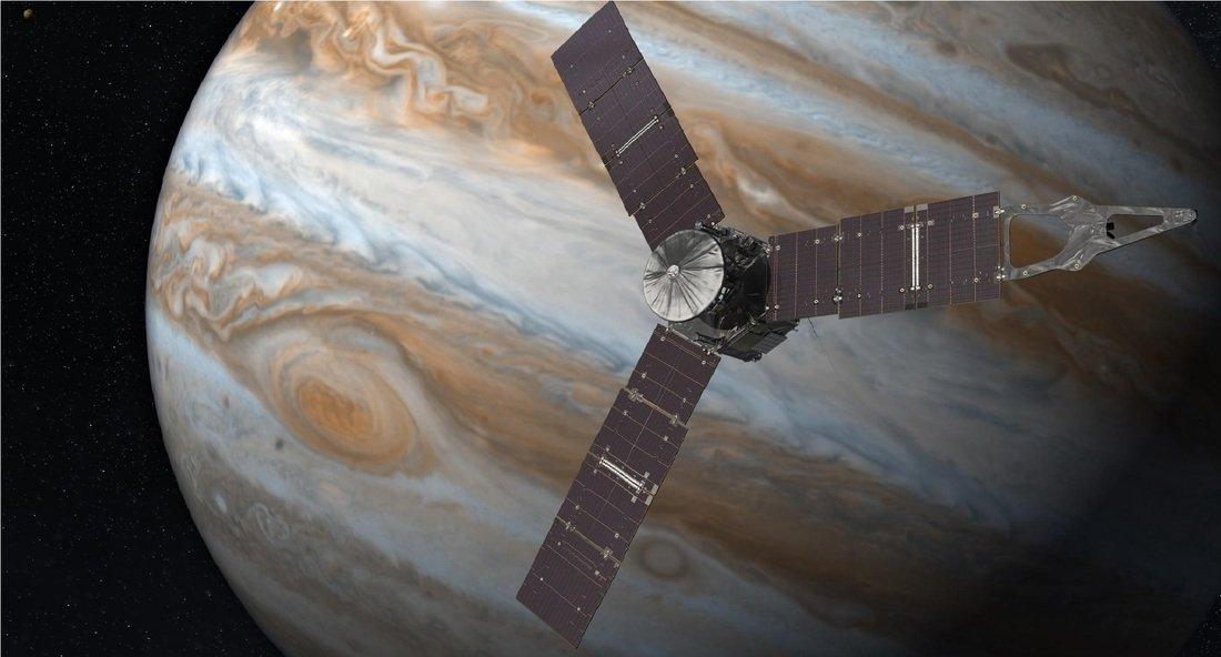 Juno sonda en Jupiter