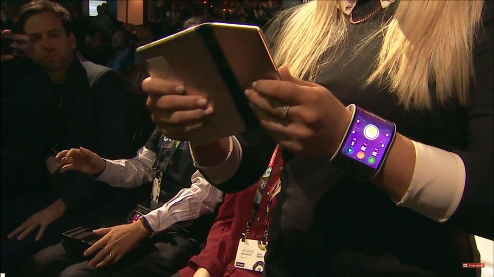 Smartwatch dobrável Lenovo