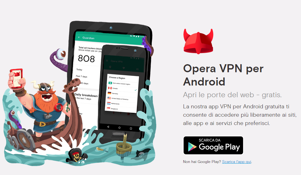 Opera, VPN, Android, iOS