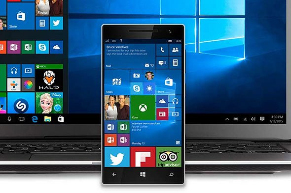Microsoft aniversario actualización de windows móvil 10
