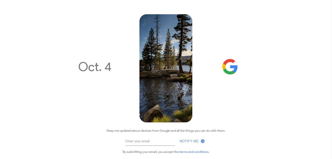 4 octubre Google Pixel