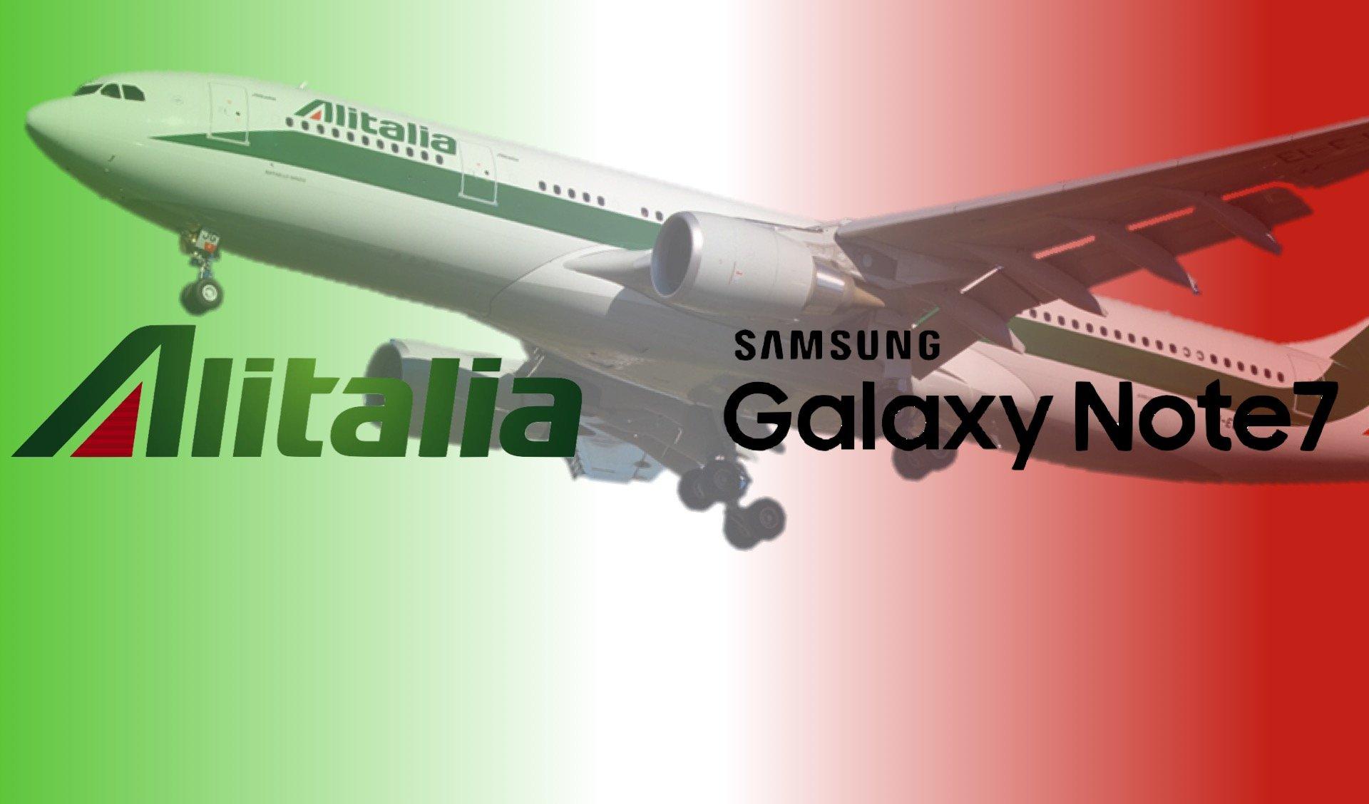 Alitalia vieta Note 7 aerei 2