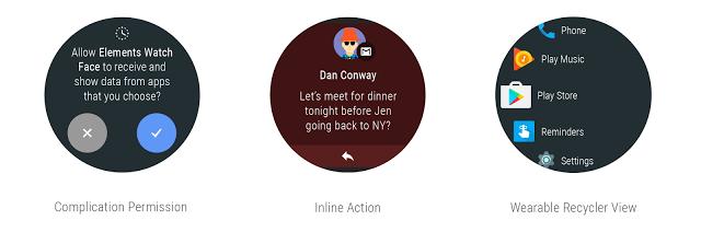 Google Android Wear 2.0 desarrollador vista previa 3 respuesta inteligente