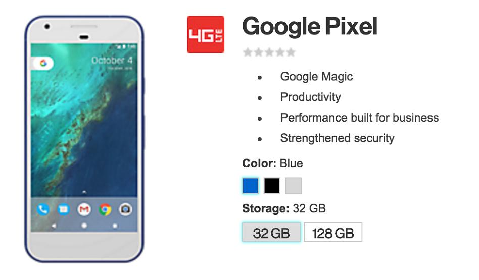 google pixel verizon