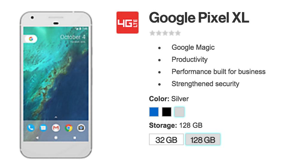 google pixel xl verizon