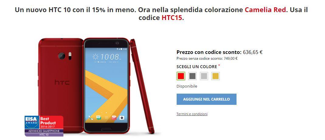 HTC 10 Camelia Red 1