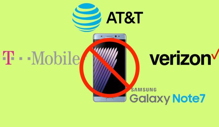 Samsung Galaxy Note 7 stop vendite operatori USA