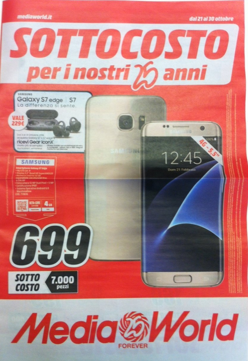 Volantino mediaworld tante offerte su smartphone for Mediaworld lavatrici slim