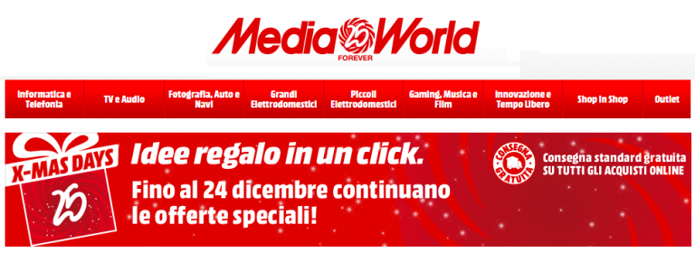 mediaworld x-mas days offerta
