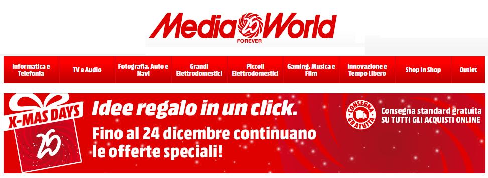 mediaworld x-mas days offerta