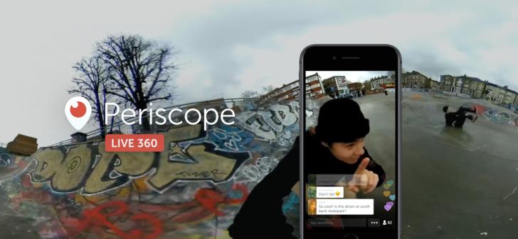 Twitter video en vivo periscopio 360