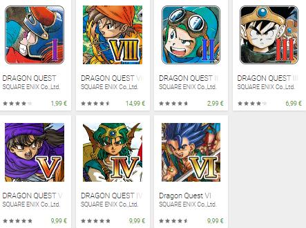 dragon quest square enix google play store sconti