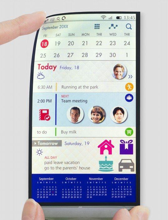 Japan Display (JDI) display Full Active Flex