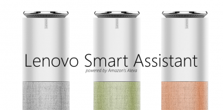 lenovo smart assistant speaker amazon alexa ces 2017