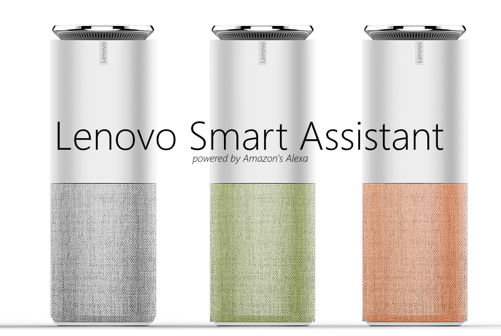 lenovo smart assistant speaker amazon alexa ces 2017