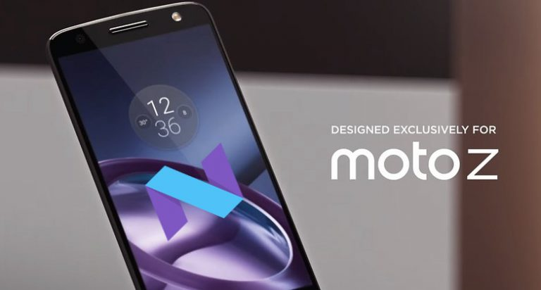 moto z android 7.0 nougat